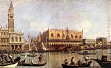 palazzo Canvas Paintings - Palazzo Ducale and the Piazza di San Marco
