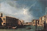 Famous Canal Paintings - The Grand Canal from Rialto toward the North