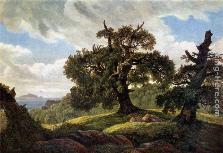 Carl Gustav Carus Oaks at the Sea Shore