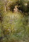 Carl Larsson - A Fairy, or Kersti, and a View of a Meadow