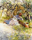 Carl Larsson - A Lady Reading a Newspaper