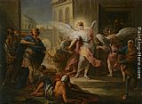Carle van Loo - The Blinding of the Inhabitants of Sodom