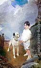 Famous Dog Paintings - Lane Lovell and His Dog