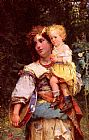 Cesare-Auguste Detti - Gypsy Woman and Child