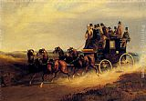 Charles Cooper Henderson - The Bath to London Coach on the Open Road