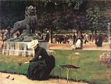 Charles Courtney Curran - In the Luxembourg Garden