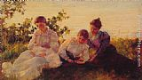 Charles Courtney Curran - Three Women
