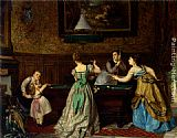 Charles Edouard Boutibonne - Ladies Playing Billiards