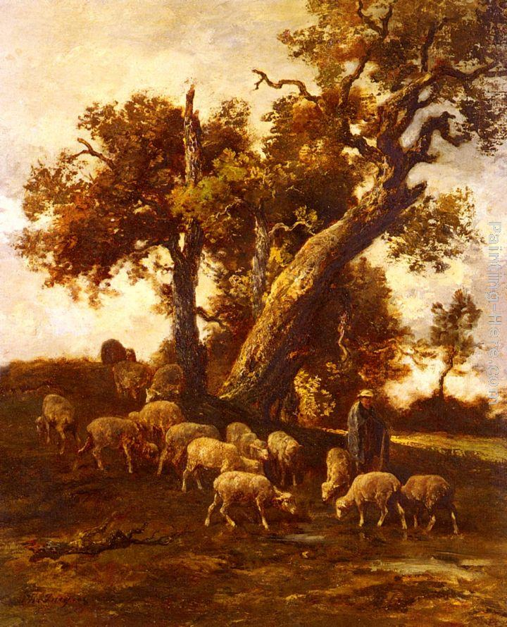 Charles Emile Jacque Sheep At Pasture