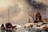 Horse Wall Art - Figures Loading A Horse-Drawn Cart On The Ice