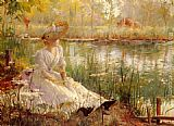 Charles James Theriat - A Beauty By A River