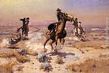 Charles Marion Russell - At Rope's End