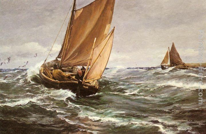 Charles Napier Hemy In Spite of Wind and Weather