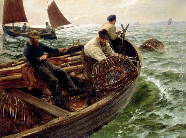 Charles Napier Hemy Lands End Crabbers