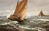 Charles Napier Hemy - In Spite of Wind and Weather