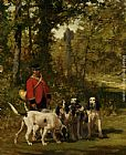 Charles Olivier De Penne - A Huntmaster on a Forest Trail