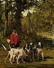 Charles Olivier De Penne - A Huntmaster with his Dogs