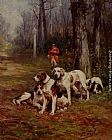 Charles Olivier De Penne - Hunting Dogs At Rest