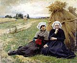 Charles Sprague Pearce - In the Poppy Field