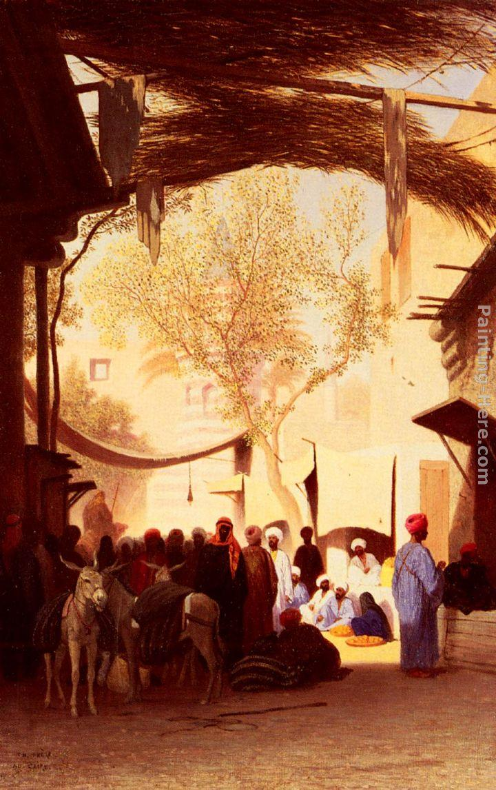 Charles Theodore Frere A Market Place, Cairo