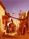 Charles Theodore Frere Street In Damascus and Street In Cairo A Pair of Painting (Pic 2) painting