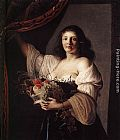 Christiaen van Couwenbergh - Woman with a Basket of Fruit