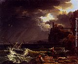 Claude-Joseph Vernet - A Shipwreck In A Stormy Sea By The Coast