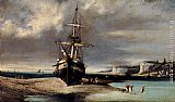 Consalvo Carelli Dieppe On The Normandy Coast painting