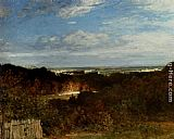 Constant Troyon - A View Towards The Seine From Suresnes