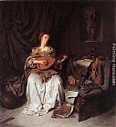 Cornelis Bega - Woman Playing a Lute