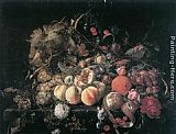 Fruit Wall Art - Still-Life with Flowers and Fruit
