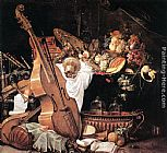 Cornelis de Heem - Vanitas Still-Life with Musical Instruments