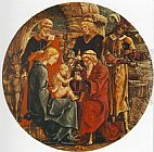 Cosme Tura - Adoration of the Magi (from the predella of the Roverella Polyptych)