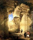 David Roberts - The Gateway of the Great Temple at Baalbec