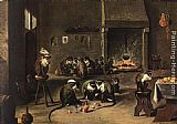 David the Younger Teniers - Apes in the Kitchen