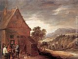 David the Younger Teniers - Before the Inn