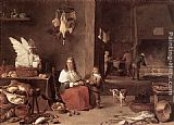 David the Younger Teniers - Kitchen Scene