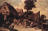 David the Younger Teniers - Peasants Dancing outside an Inn