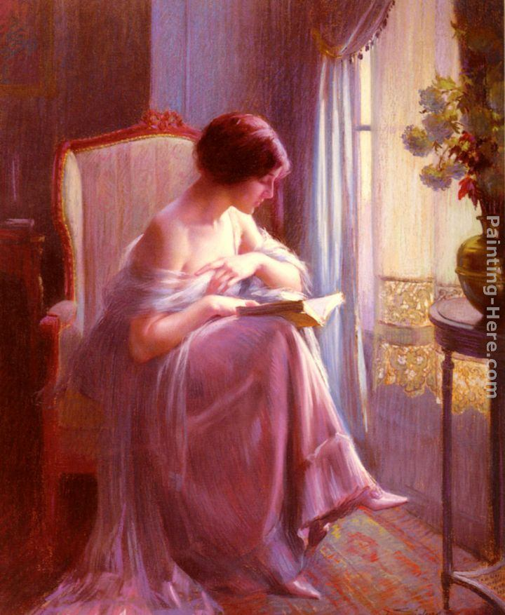 Delphin Enjolras Young Woman Reading By A Window