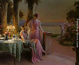 Delphin Enjolras - Elegant Ladies Taking Tea