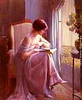 Famous Reading Paintings - Young Woman Reading By A Window