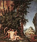 Denys van Alsloot - Landscape With Satyr Family