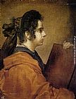 Diego Rodriguez De Silva Velazquez Canvas Paintings - A Sibyl