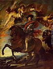 Diego Rodriguez De Silva Velazquez Canvas Paintings - Allegorical Portrait of Philip IV