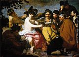 Diego Rodriguez De Silva Velazquez Canvas Paintings - Bacchus