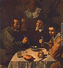 Diego Rodriguez De Silva Velazquez Canvas Paintings - Breakfast