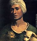 Famous Dog Paintings - Portrait Of A Young Man With A Dog And A Cat