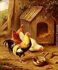 Edgar Hunt - Chickens Feeding