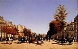 Edmond Grandjean - View Of The Champs-Elysees From The Place De L'Etoile