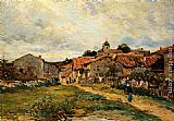 Edmond Marie Petitjean - The Village Road